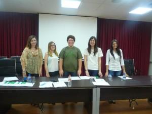 Nueva Junta Directiva, de izquierda a derecha: Alejanra Ortega, tesorera; Laura Cabello, Vicepresidenta y Vocal; Miguel Vargas, Presidente; Crisalda Ferrús, Secretaria General y Arantxa Alba Vocal